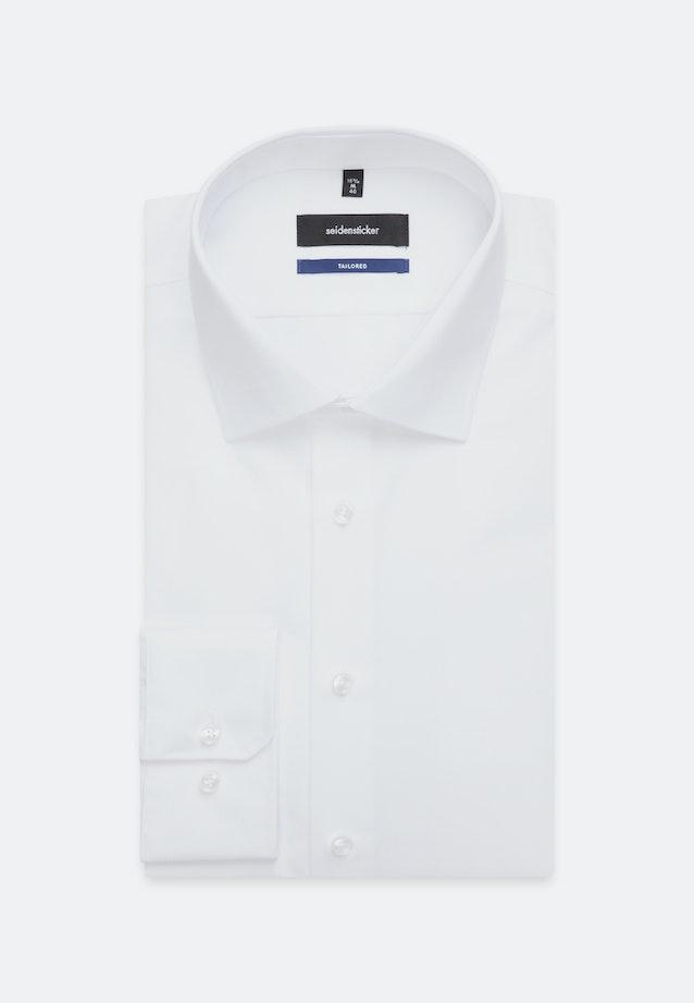 Bügelfreies Popeline Business Hemd in Shaped mit Kentkragen und extra kurzem Arm in Weiß |  Seidensticker Onlineshop