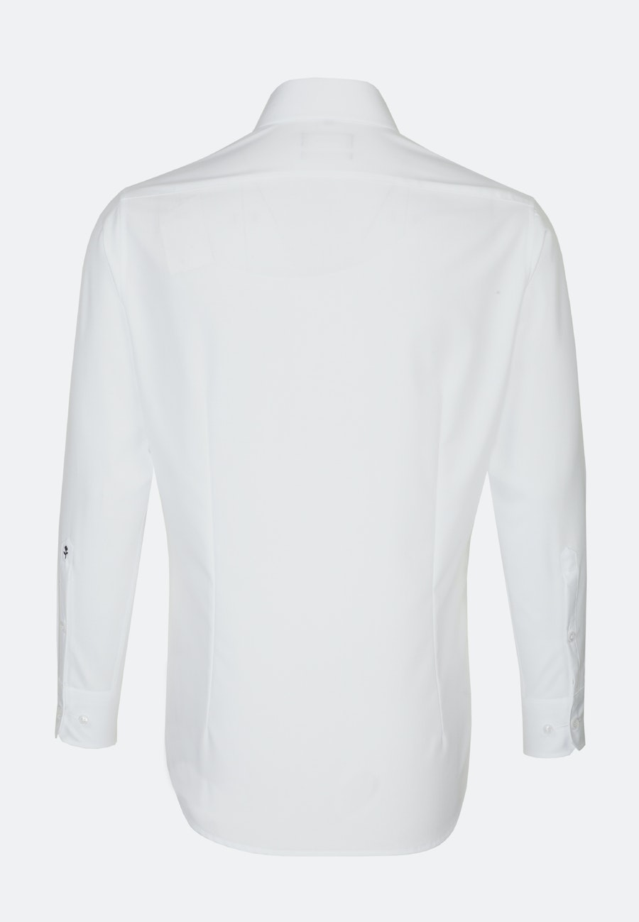Non-iron Popeline Business Shirt in Shaped with Kent-Collar and extra short sleeve in White |  Seidensticker Onlineshop
