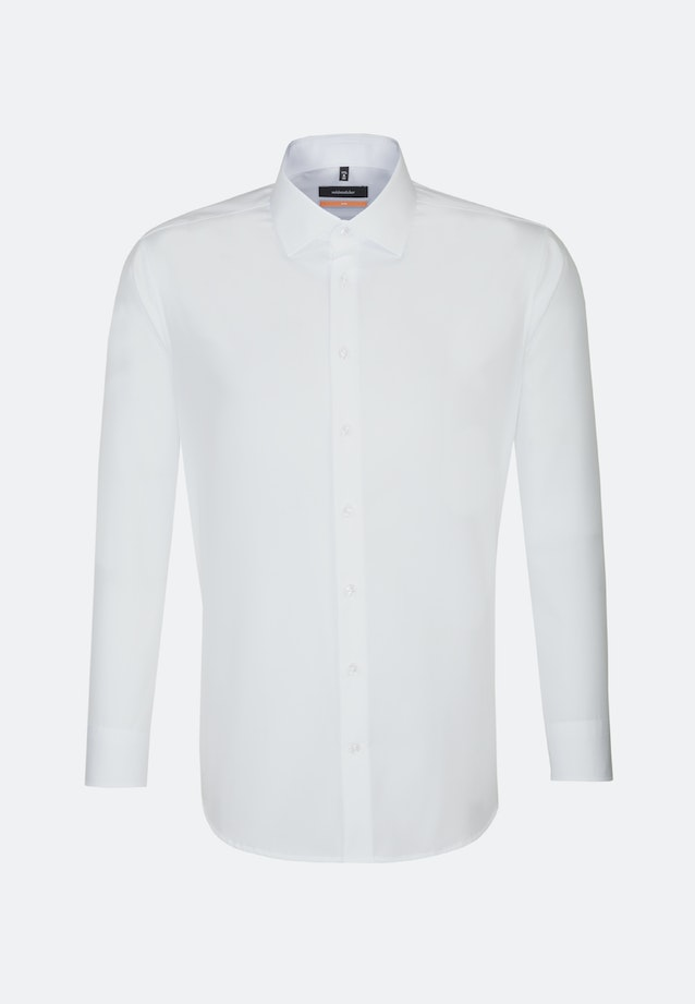Non-iron Popeline Business Shirt in Slim with Kent-Collar and extra short sleeve in White |  Seidensticker Onlineshop