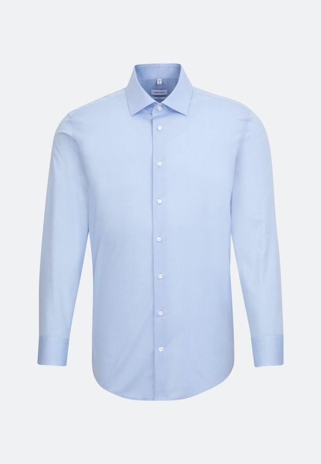 Bügelfreies Fil a fil Business Hemd in Slim mit Kentkragen und extra kurzem Arm in Hellblau |  Seidensticker Onlineshop