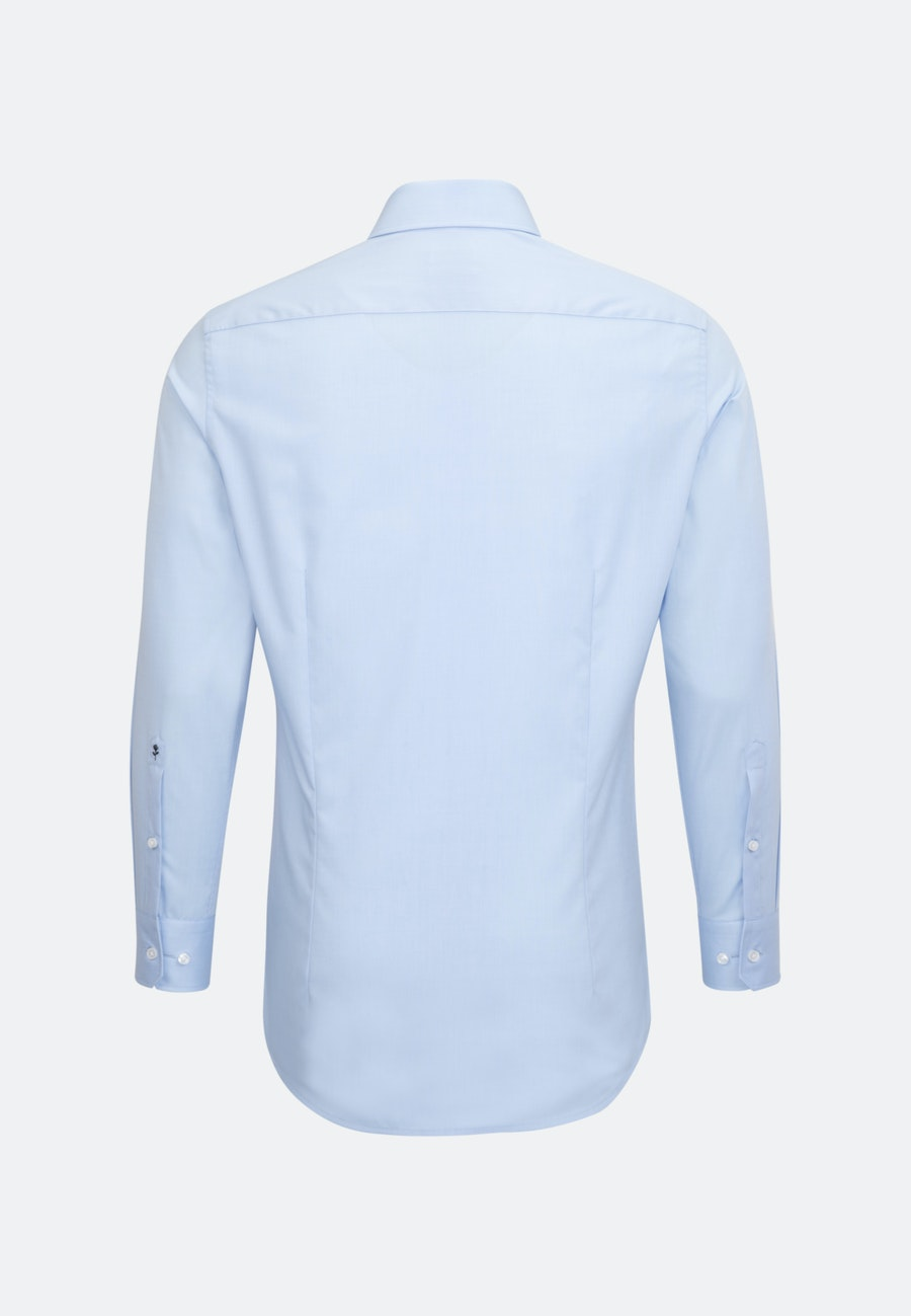 Non-iron Fil a fil Business Shirt in Slim with Kent-Collar and extra short sleeve in Light blue |  Seidensticker Onlineshop