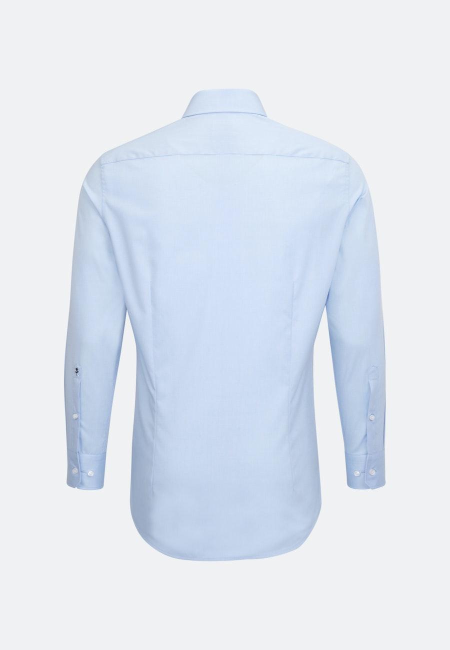 Bügelfreies Fil a fil Business Hemd in Slim mit Kentkragen und extra kurzem Arm in Hellblau    Seidensticker Onlineshop