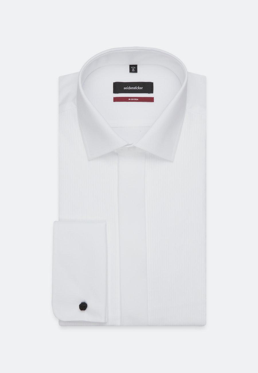 Non-iron Popeline Gala Shirt in Regular with Kent-Collar in White |  Seidensticker Onlineshop
