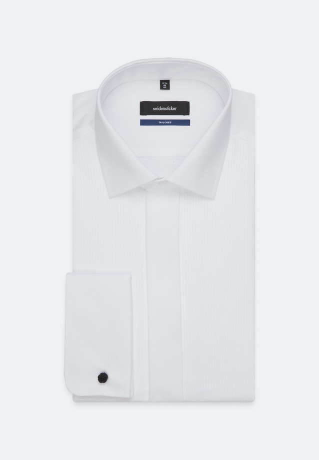 Non-iron Popeline Gala Shirt in Shaped with Kent-Collar in White |  Seidensticker Onlineshop