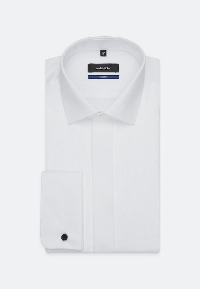 Bügelfreies Popeline Smokinghemd in Shaped mit Kentkragen in Weiß |  Seidensticker Onlineshop
