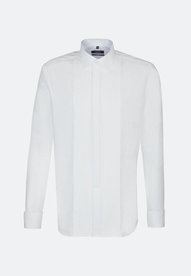 Bügelfreies Popeline Smokinghemd in Shaped mit Kentkragen in Weiß    Seidensticker Onlineshop