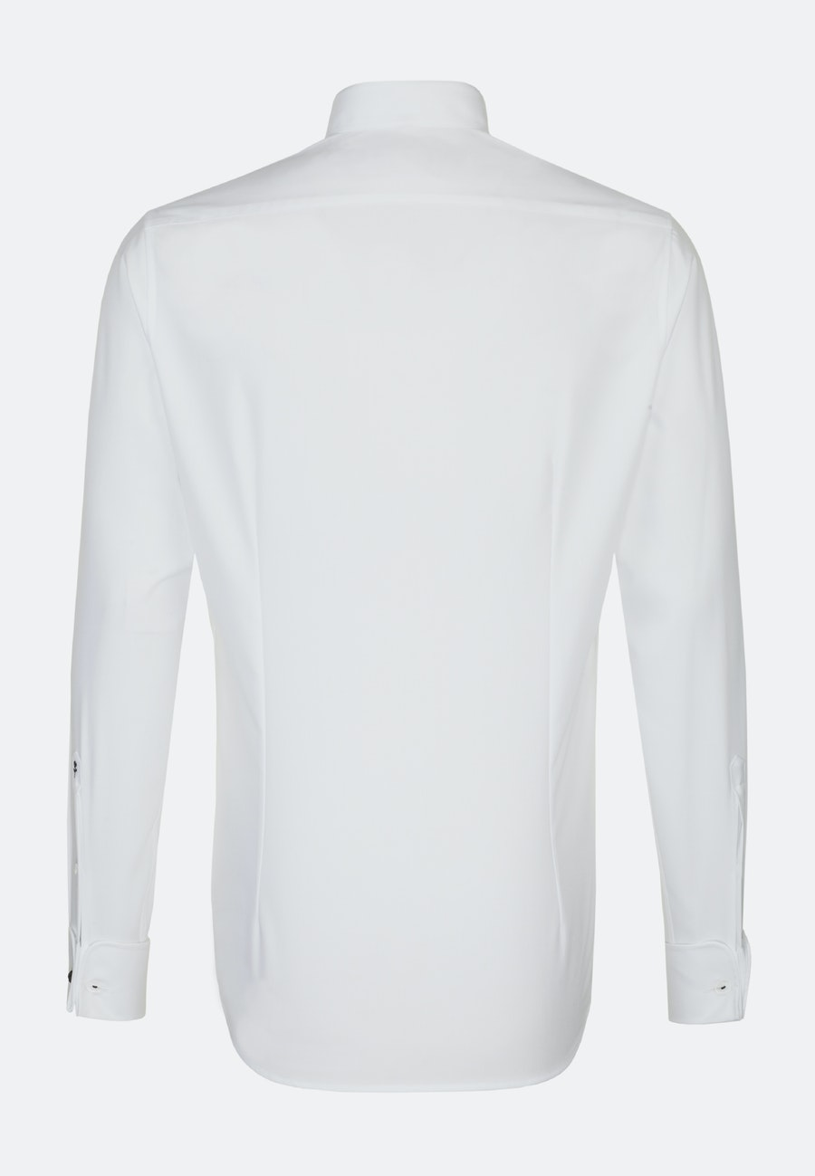 Non-iron Poplin Gala Shirt in Shaped with Kent-Collar in White |  Seidensticker Onlineshop