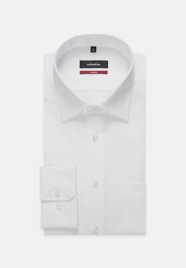 Bügelfreies Popeline Business Hemd in Regular mit Kentkragen und extra kurzem Arm in Weiß |  Seidensticker Onlineshop
