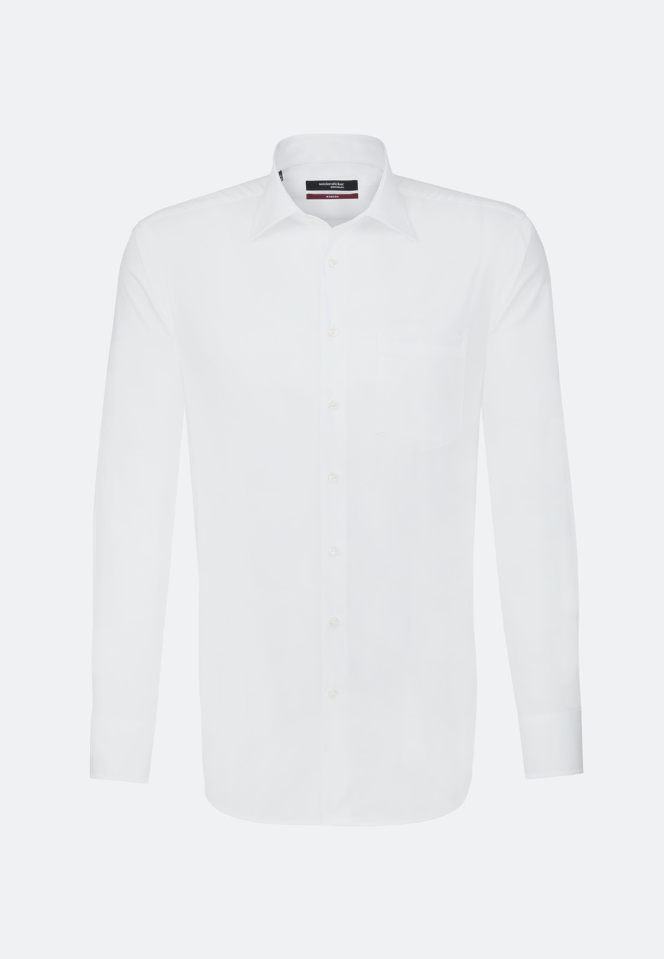Non-iron Poplin Business Shirt in Regular with Kent-Collar and extra short sleeve in White |  Seidensticker Onlineshop