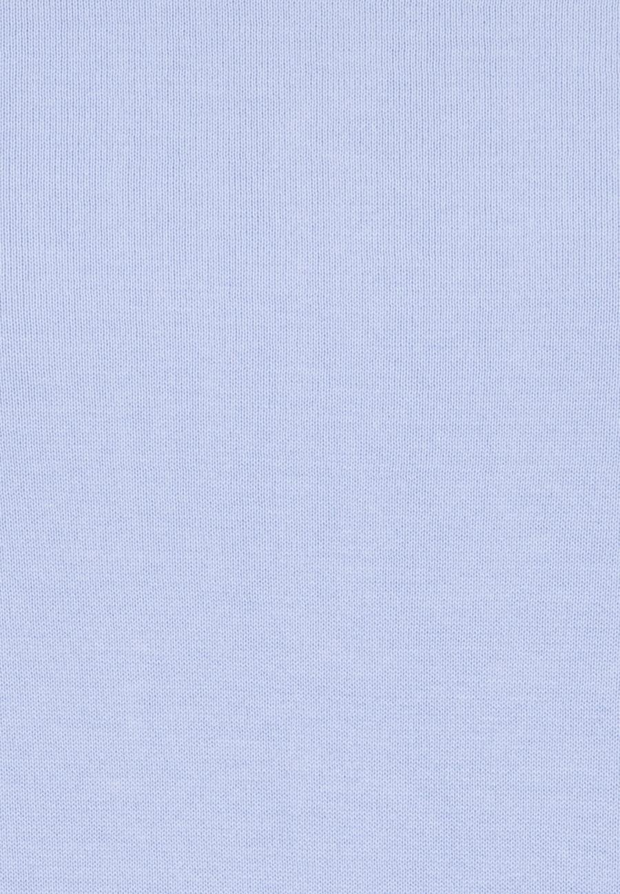 Rundhals Pullover aus 100% Baumwolle in Hellblau |  Seidensticker Onlineshop