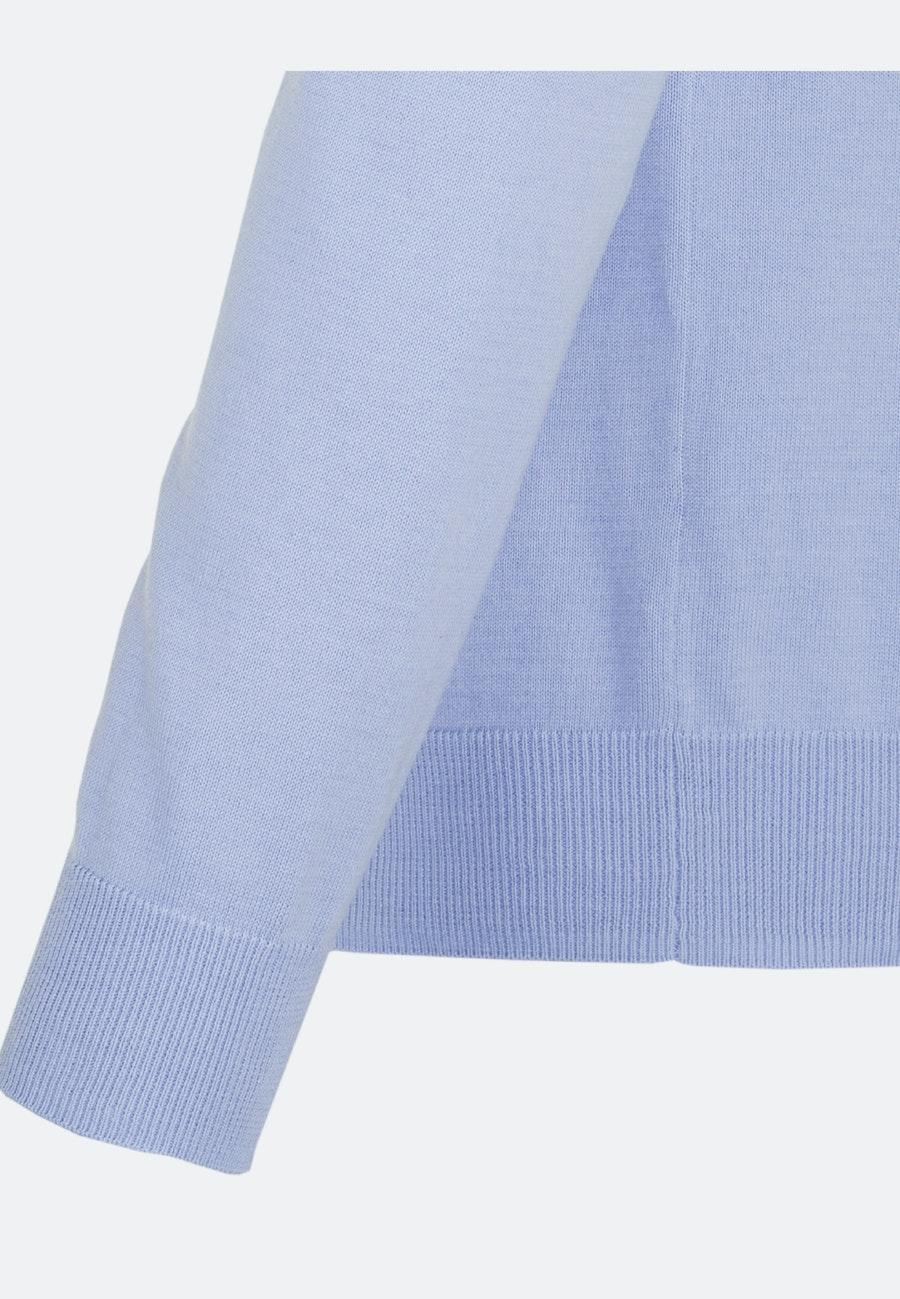 Crew Neck Pullover made of 100% Cotton in Light blue    Seidensticker Onlineshop