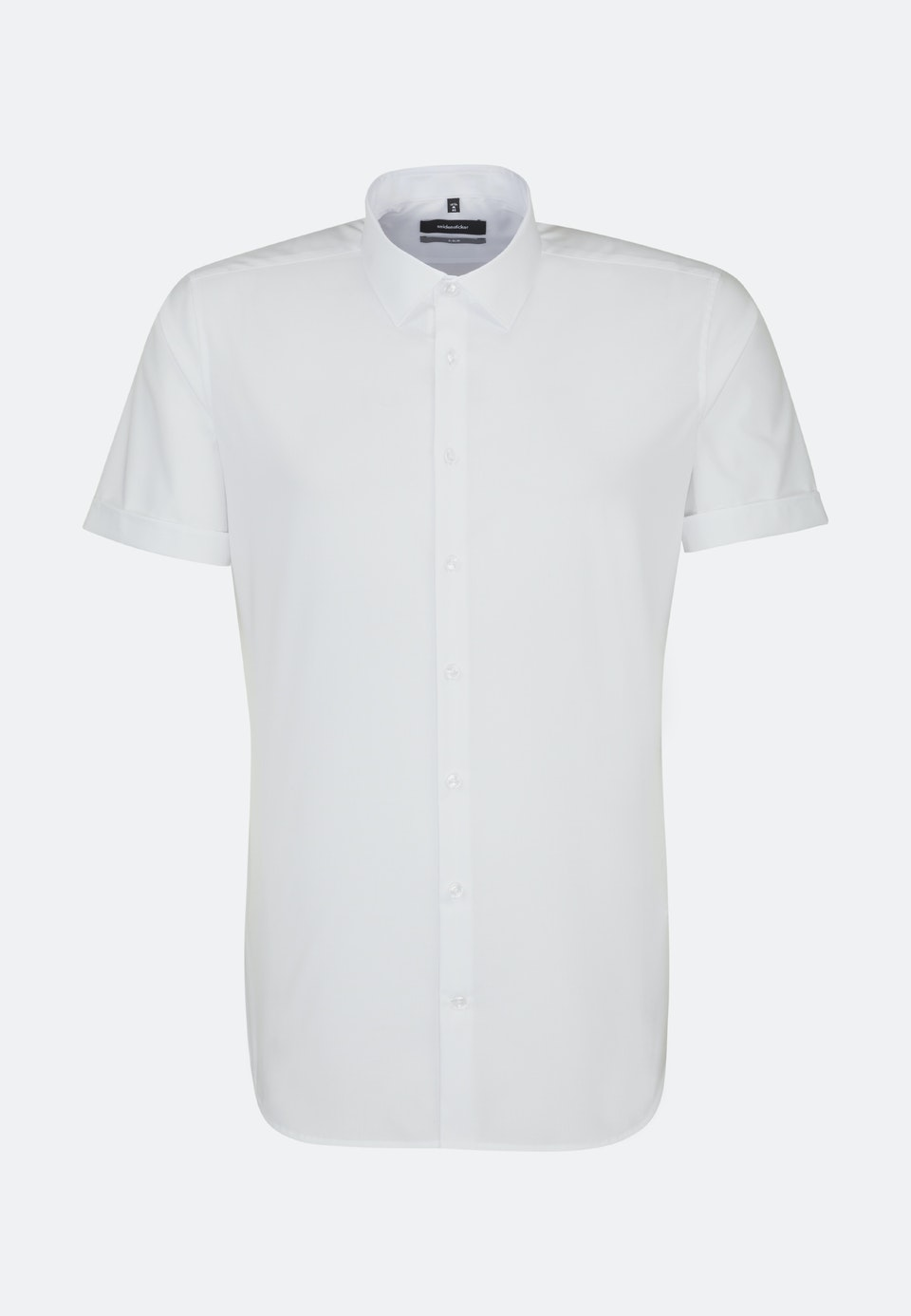 Non-iron Popeline Short sleeve Business Shirt in X-Slim with Kent-Collar in White |  Seidensticker Onlineshop