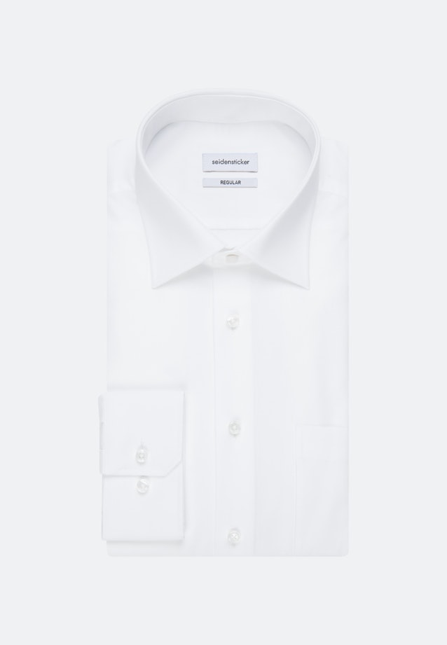 Non-iron Popeline Business Shirt in Regular with Kent-Collar and extra long sleeve in White |  Seidensticker Onlineshop
