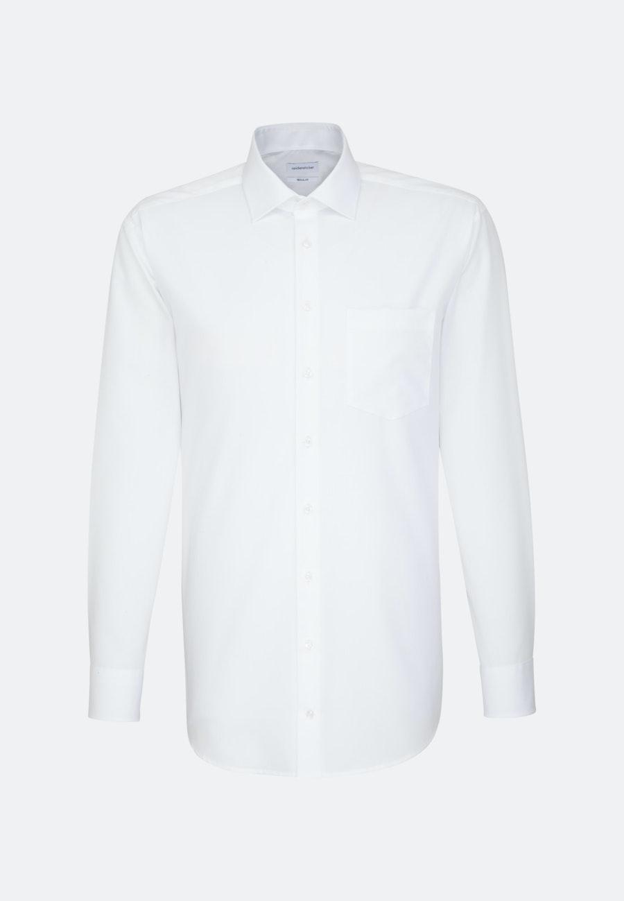 Bügelfreies Popeline Business Hemd in Regular mit Kentkragen und extra langem Arm in Weiß |  Seidensticker Onlineshop