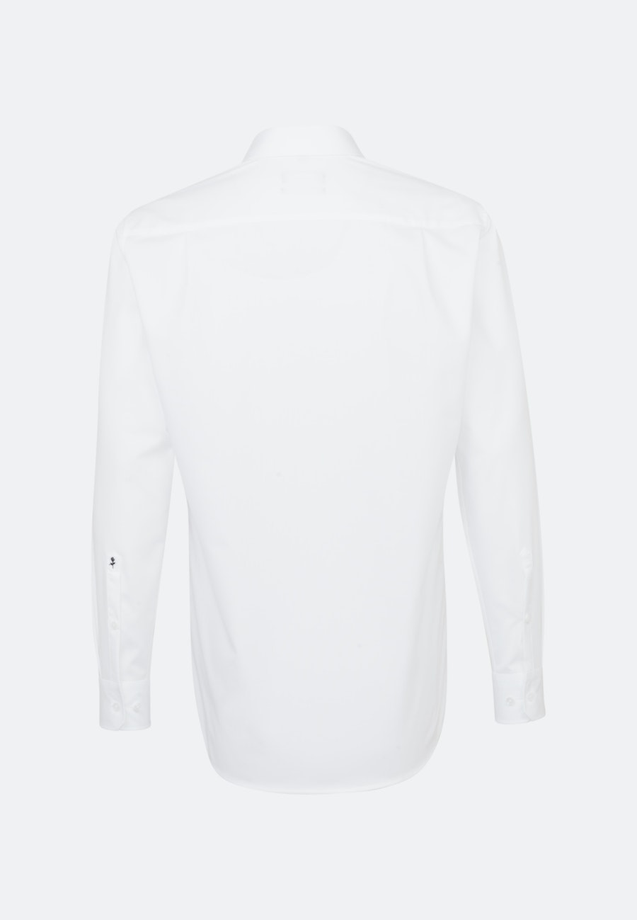 Non-iron Popeline Business Shirt in Regular with Kent-Collar and extra long sleeve in White    Seidensticker Onlineshop