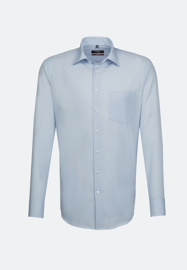 Non-iron Popeline Business Shirt in Regular with Kent-Collar and extra long sleeve in Hellblau    Seidensticker Onlineshop