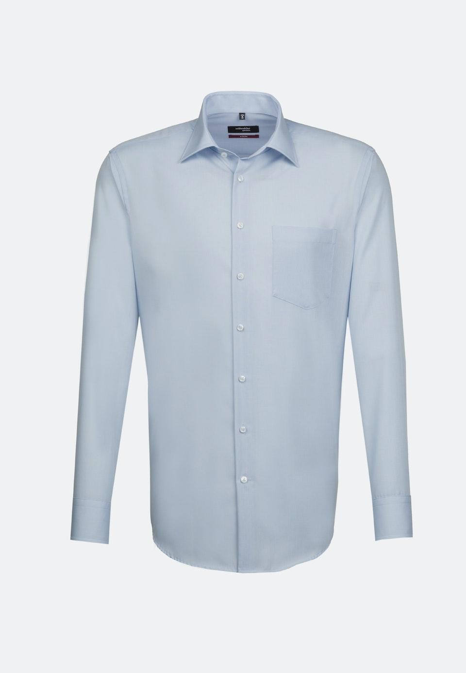 Bügelfreies Popeline Business Hemd in Regular mit Kentkragen und extra langem Arm in Hellblau |  Seidensticker Onlineshop