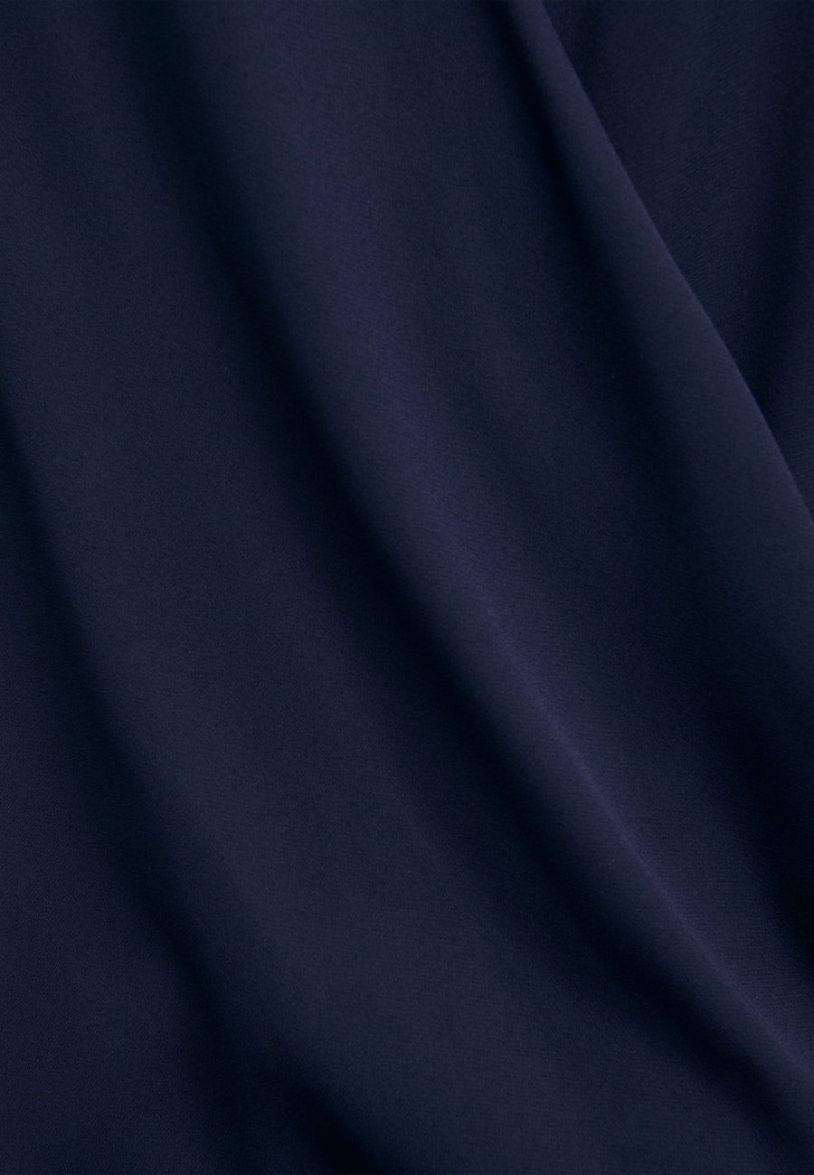 Crepe Wraparound Blouse made of 100% Polyester in Dark blue |  Seidensticker Onlineshop