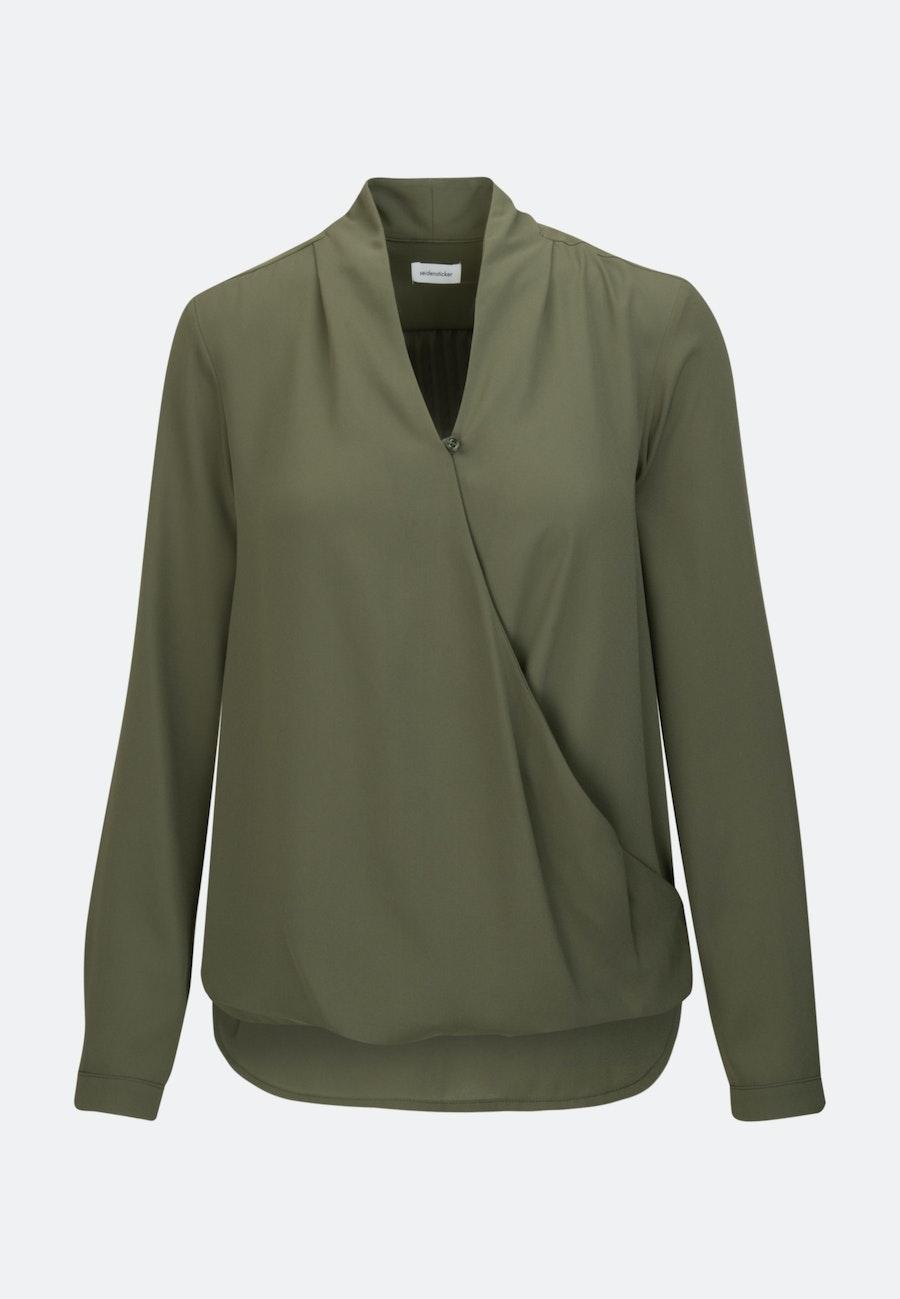 Krepp Wickelbluse aus 100% Polyester in Grün |  Seidensticker Onlineshop