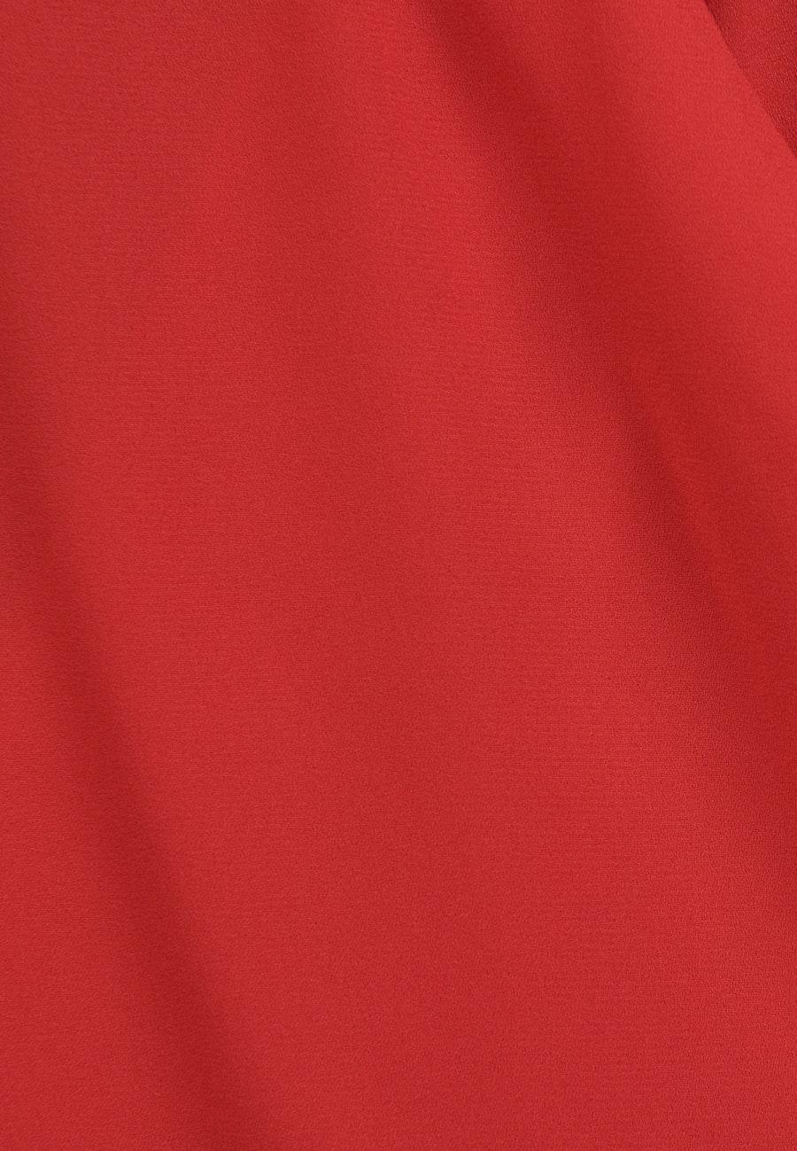 Krepp Wraparound Blouse made of 100% Polyester in Red |  Seidensticker Onlineshop
