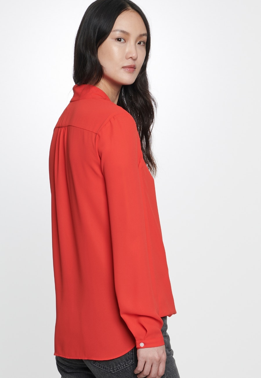 Krepp Wickelbluse aus 100% Polyester in Rot |  Seidensticker Onlineshop