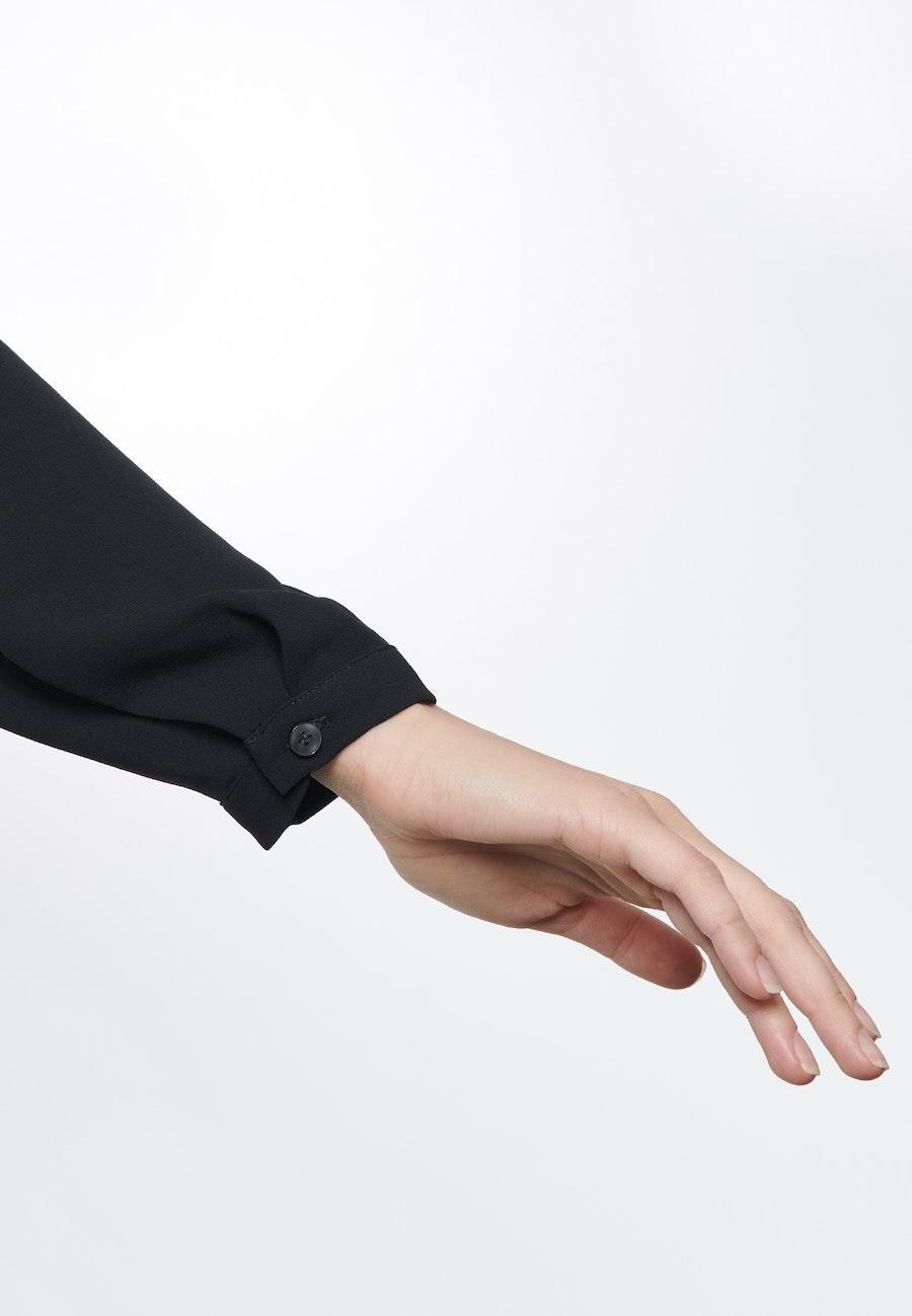 Krepp Wickelbluse aus 100% Polyester in Schwarz    Seidensticker Onlineshop