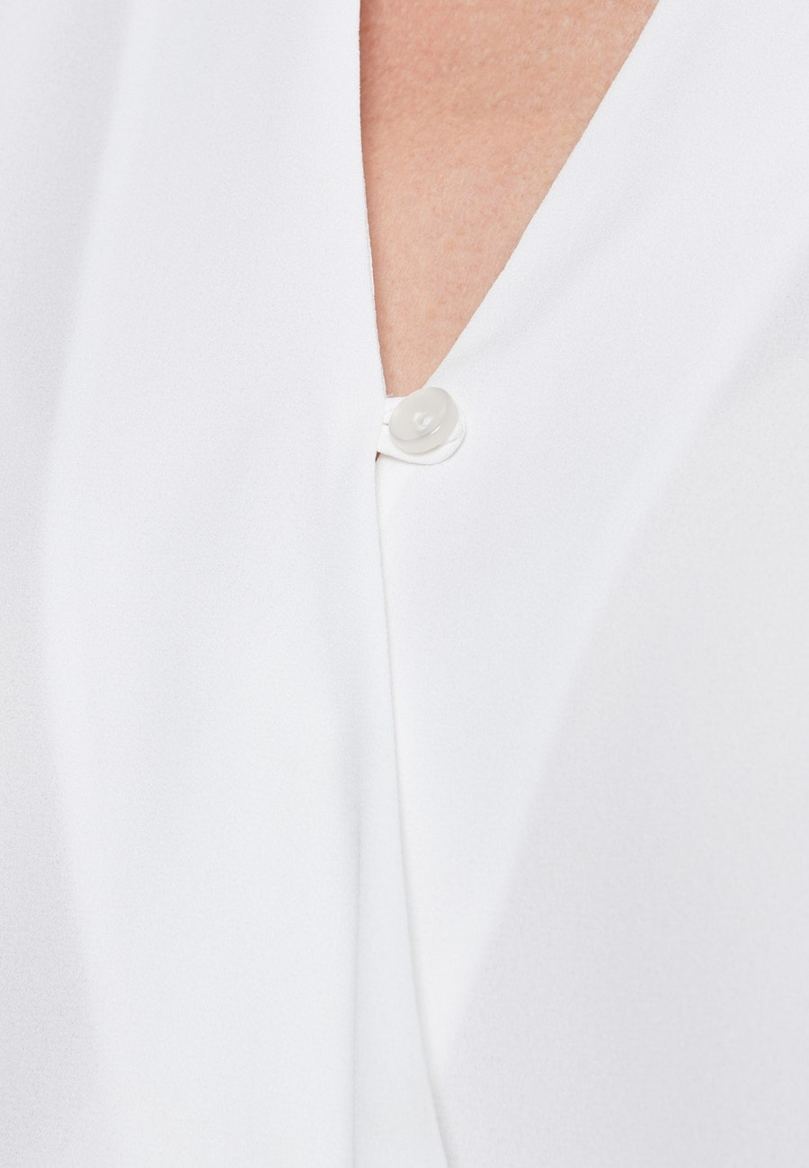 Krepp Wraparound Blouse made of 100% Polyester in White |  Seidensticker Onlineshop