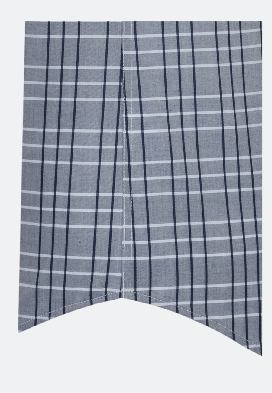Easy-iron Twill Short sleeve Business Shirt in Shaped with Covered-Button-Down-Collar in Medium blue |  Seidensticker Onlineshop