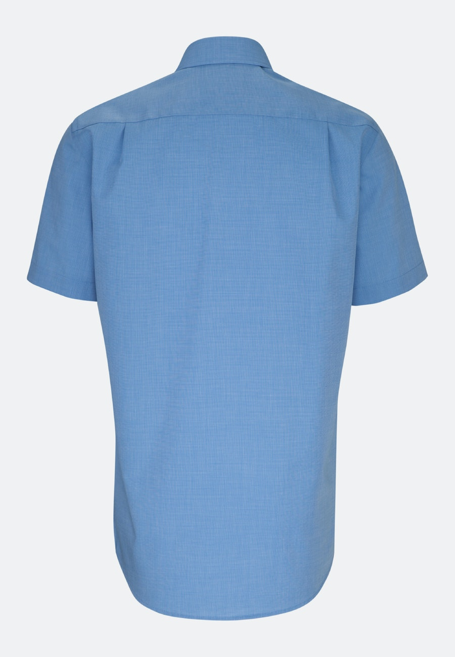 Non-iron Fil a fil Short sleeve Business Shirt in Regular with Kent-Collar in Blau |  Seidensticker Onlineshop