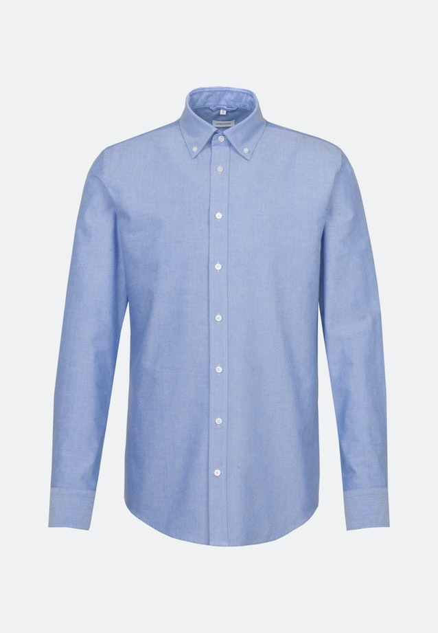 Easy-iron Oxford Business Shirt in Shaped with Button-Down-Collar in Light blue |  Seidensticker Onlineshop