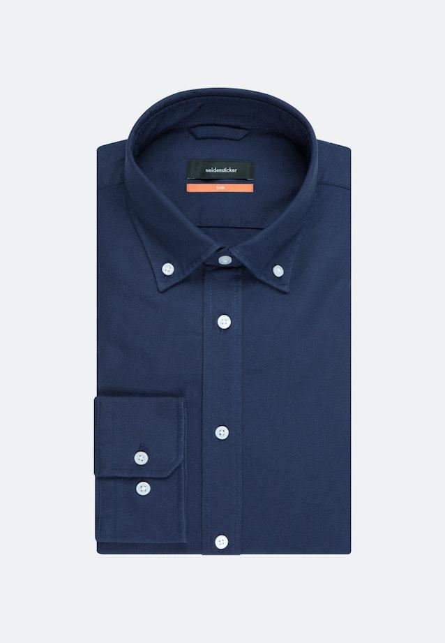Oxfordhemd in Shaped mit Button-Down-Kragen in Dunkelblau    Seidensticker Onlineshop