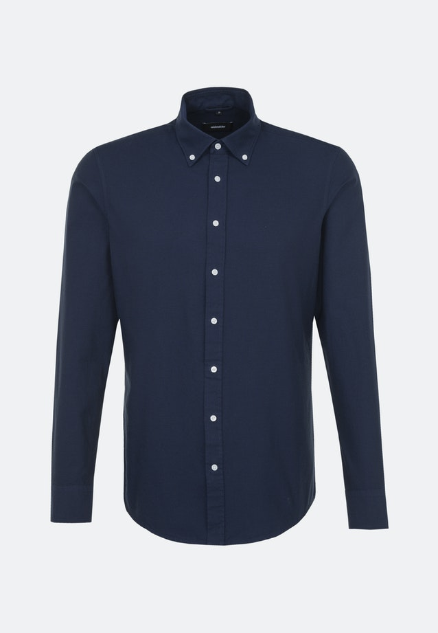 Easy-iron Oxford Business Shirt in Shaped with Button-Down-Collar in Dunkelblau    Seidensticker Onlineshop