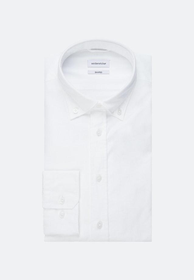 Oxfordhemd in Shaped mit Button-Down-Kragen in Weiß    Seidensticker Onlineshop
