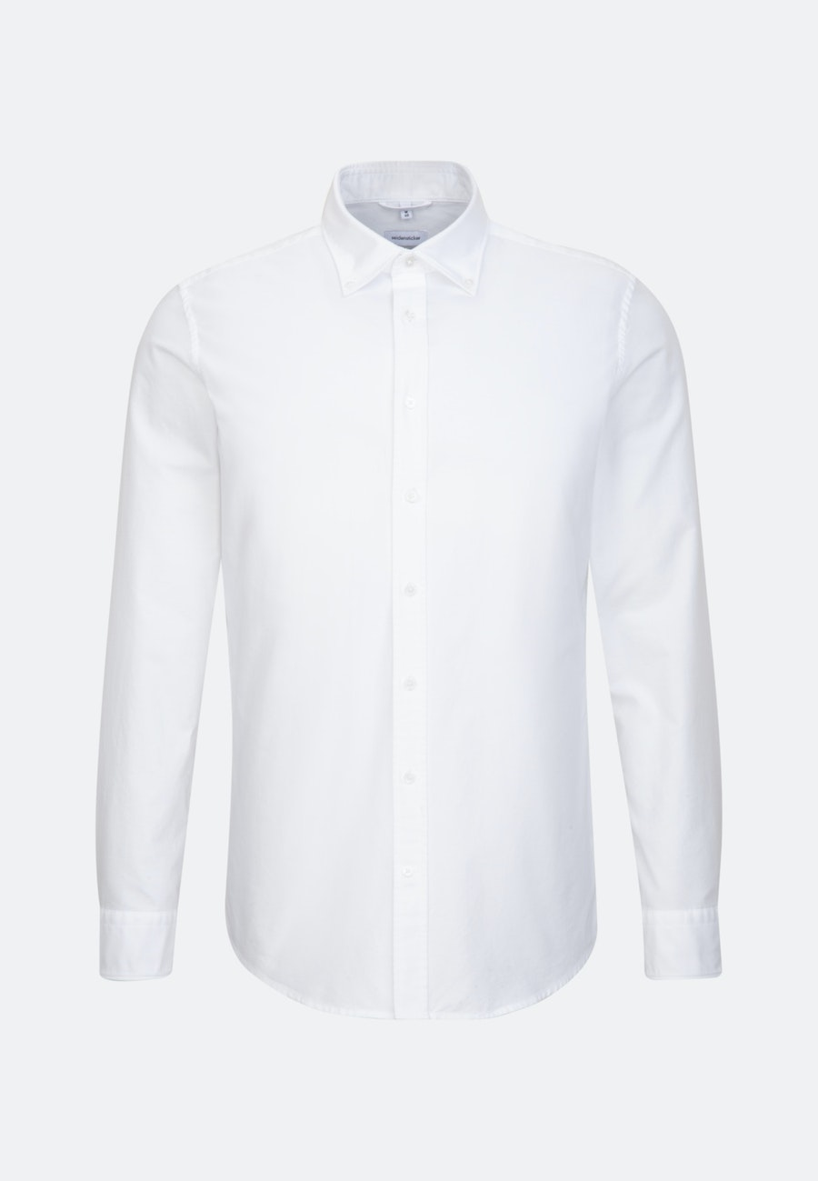 Oxford shirt in Shaped with Button-Down-Collar in White |  Seidensticker Onlineshop