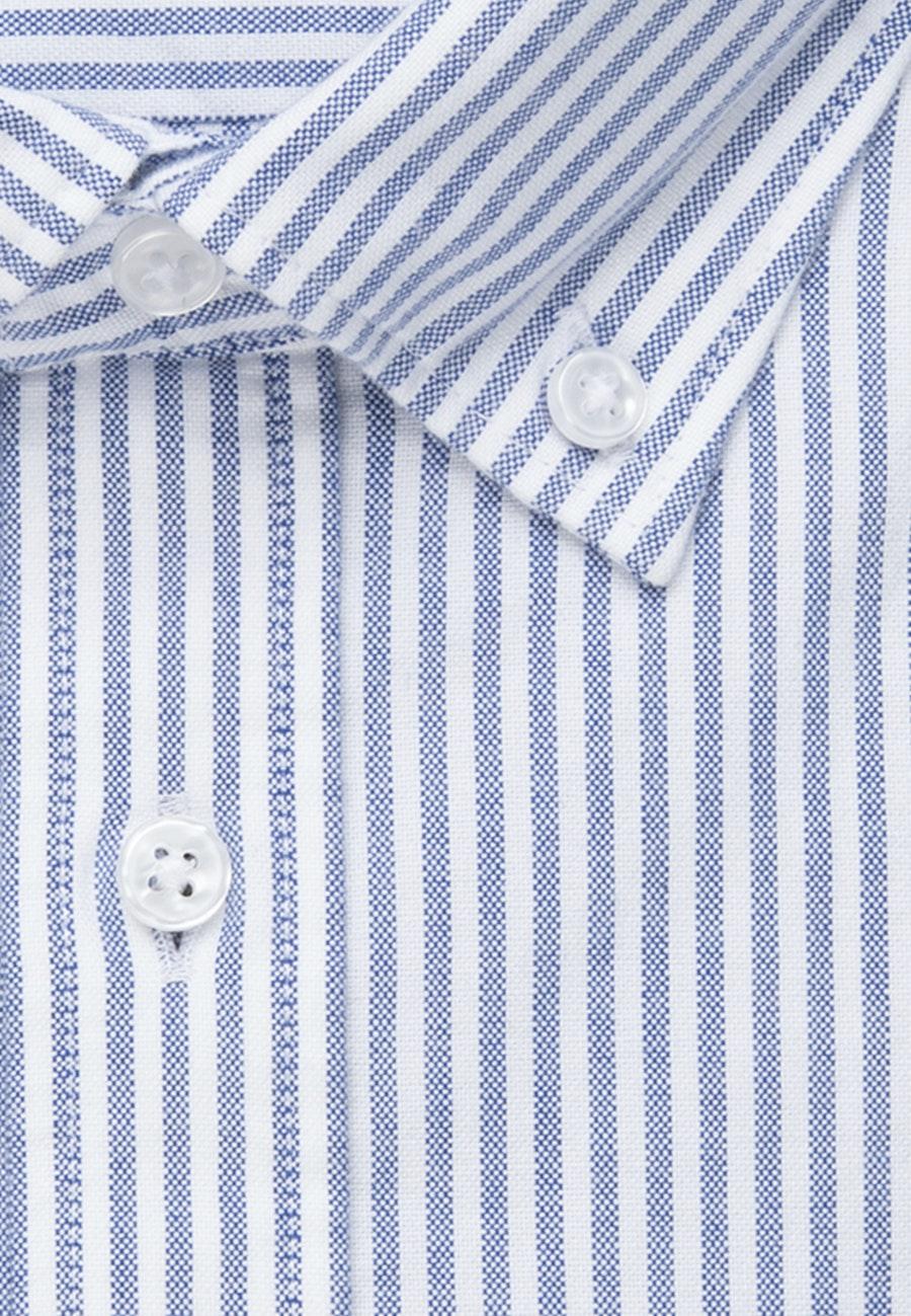 Bügelleichtes Oxford Business Hemd in X-Slim mit Button-Down-Kragen in Hellblau |  Seidensticker Onlineshop