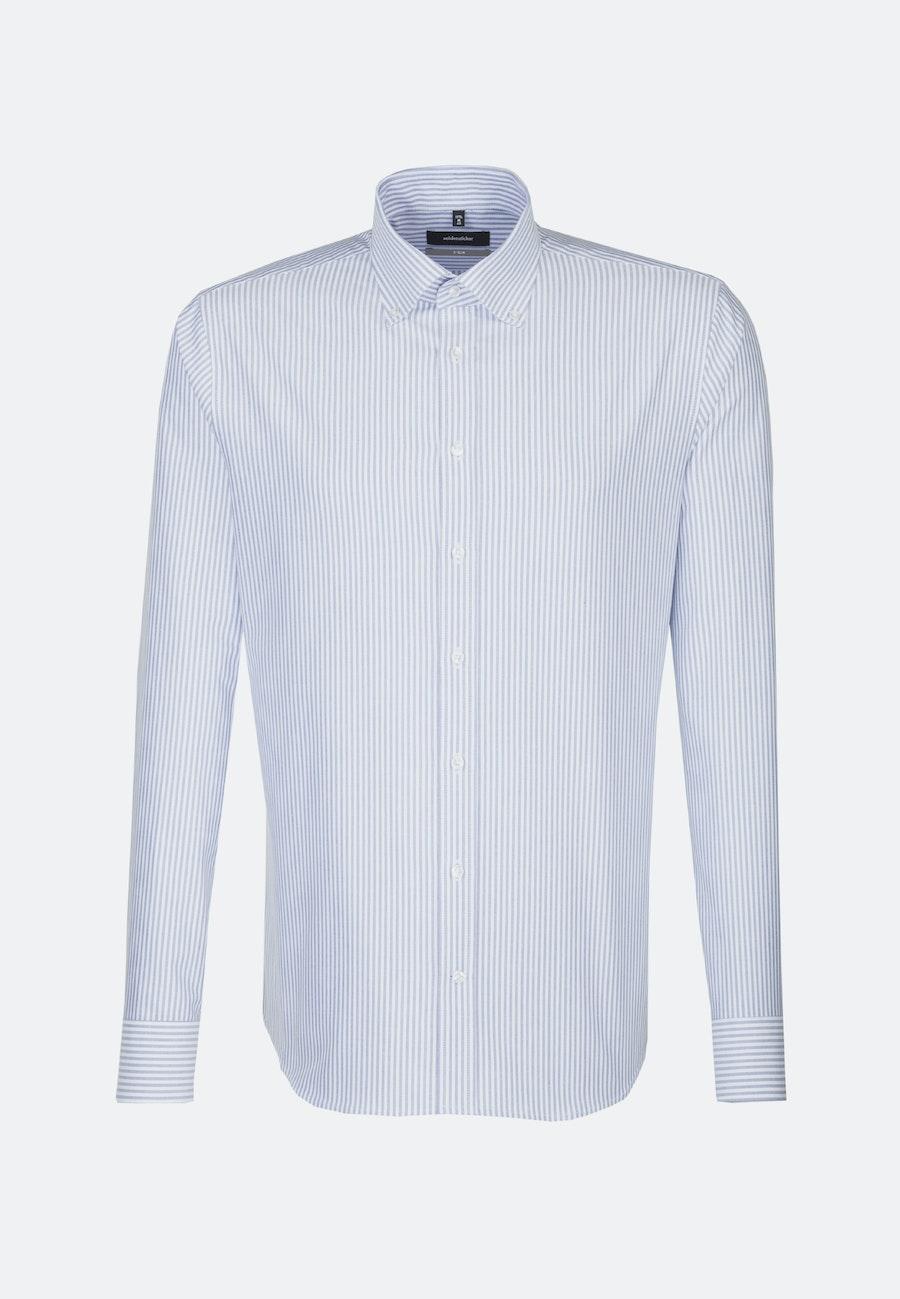 Easy-iron Oxford Business Shirt in X-Slim with Button-Down-Collar in Light blue |  Seidensticker Onlineshop