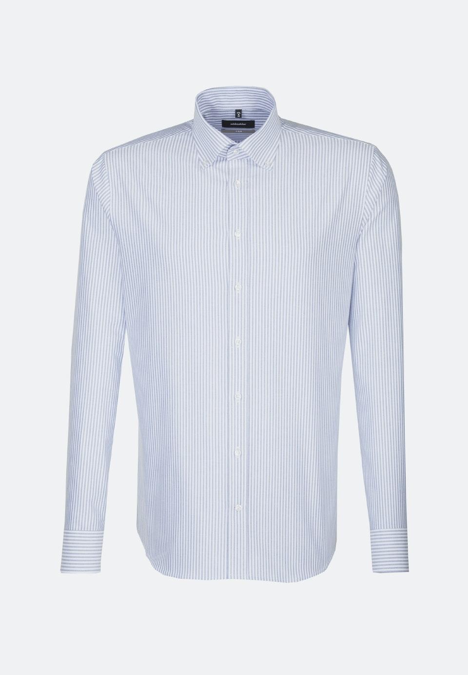 Oxfordhemd in X-Slim mit Button-Down-Kragen in Hellblau |  Seidensticker Onlineshop