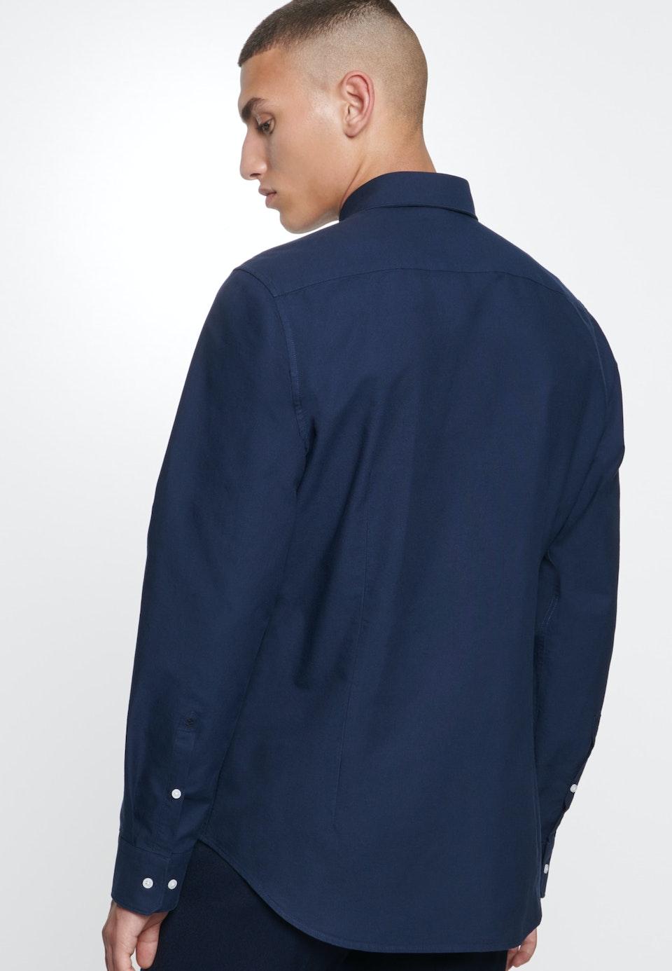 Easy-iron Oxford Business Shirt in Slim with Button-Down-Collar in Dunkelblau |  Seidensticker Onlineshop