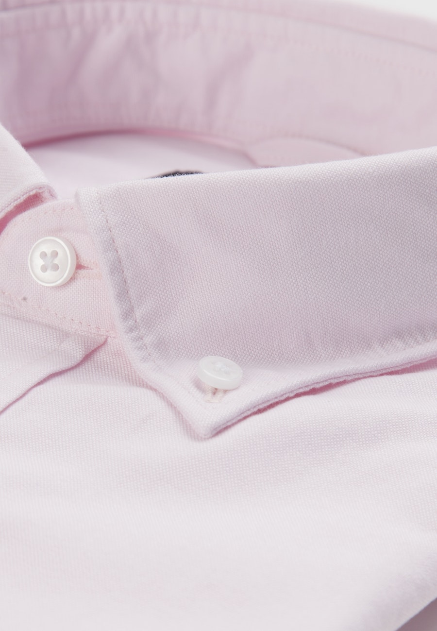 Easy-iron Oxford Business Shirt in Slim with Button-Down-Collar in Rosa/Pink |  Seidensticker Onlineshop