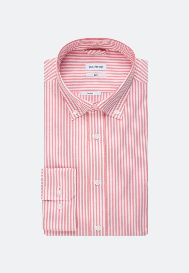 Bügelleichtes Oxford Business Hemd in Slim mit Button-Down-Kragen in Rot |  Seidensticker Onlineshop