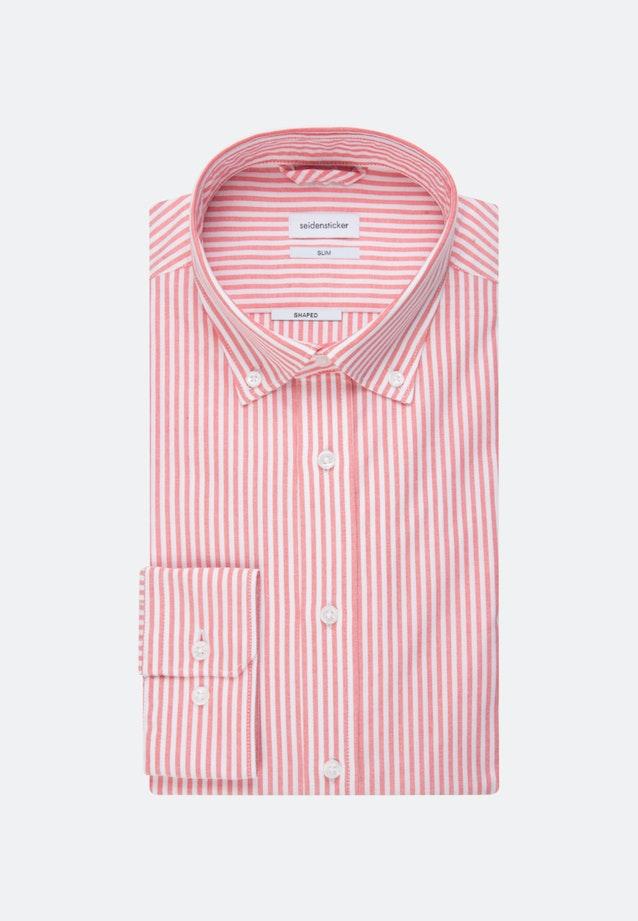 Easy-iron Oxford Business Shirt in Slim with Button-Down-Collar in Rot |  Seidensticker Onlineshop