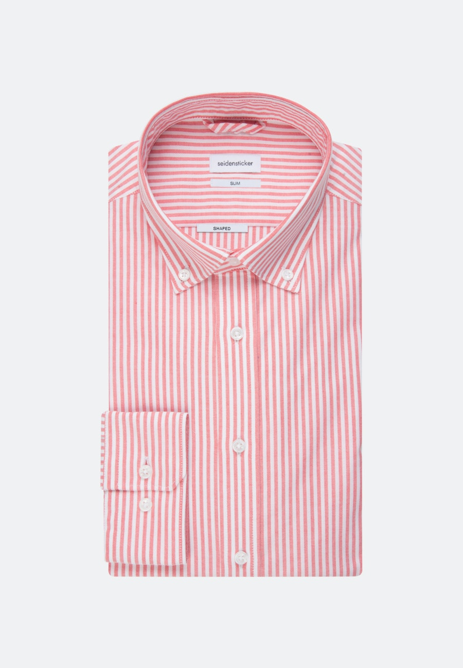 Easy-iron Oxford Business Shirt in Slim with Button-Down-Collar in Rot |  Seidensticker Onlineshop