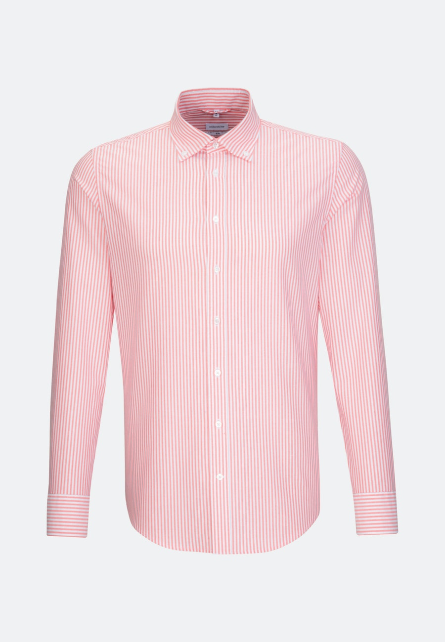 Easy-iron Oxford Business Shirt in Slim with Button-Down-Collar in Rot    Seidensticker Onlineshop