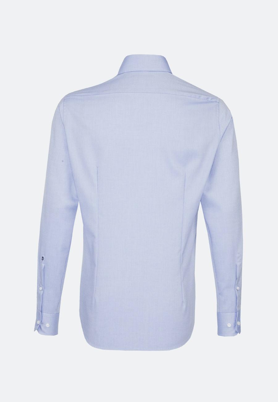 Non-iron Struktur Business Shirt in Shaped with Kent-Collar in Light blue |  Seidensticker Onlineshop