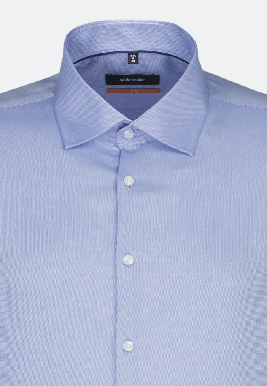 Non-iron Struktur Business Shirt in Slim with Kent-Collar in Light blue |  Seidensticker Onlineshop