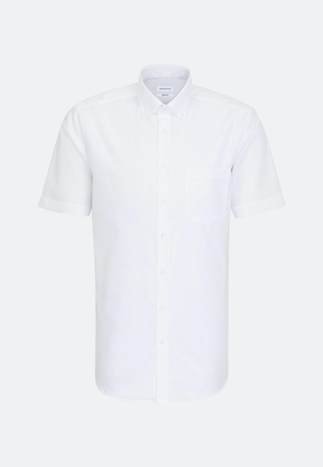 Bügelfreies Popeline Kurzarm Business Hemd in Regular mit Button-Down-Kragen in Weiß    Seidensticker Onlineshop