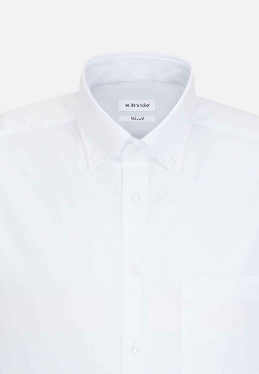 Non-iron Poplin Short sleeve Business Shirt in Regular with Button-Down-Collar in White |  Seidensticker Onlineshop