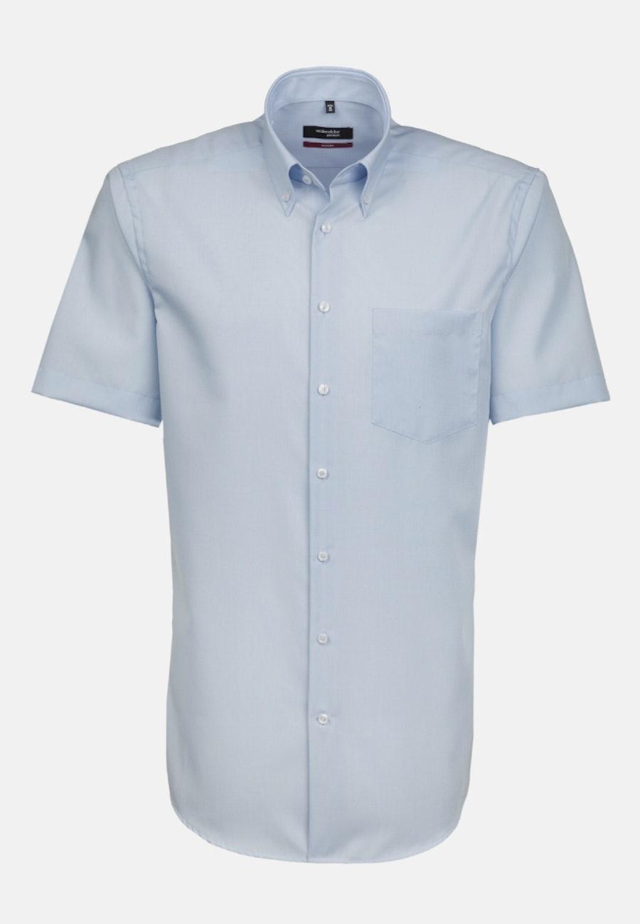 Non-iron Poplin Short sleeve Business Shirt in Regular with Button-Down-Collar in Red |  Seidensticker Onlineshop
