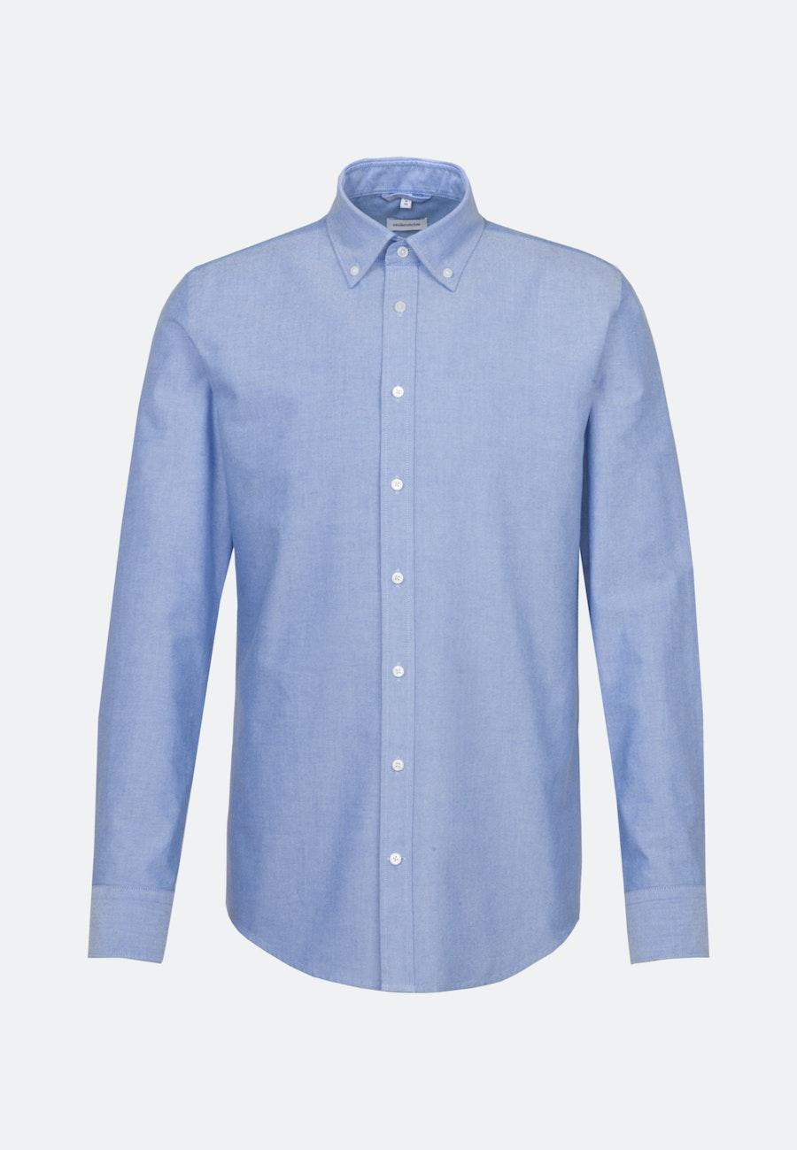 Bügelleichtes Oxford Business Hemd in Regular mit Button-Down-Kragen in Hellblau |  Seidensticker Onlineshop