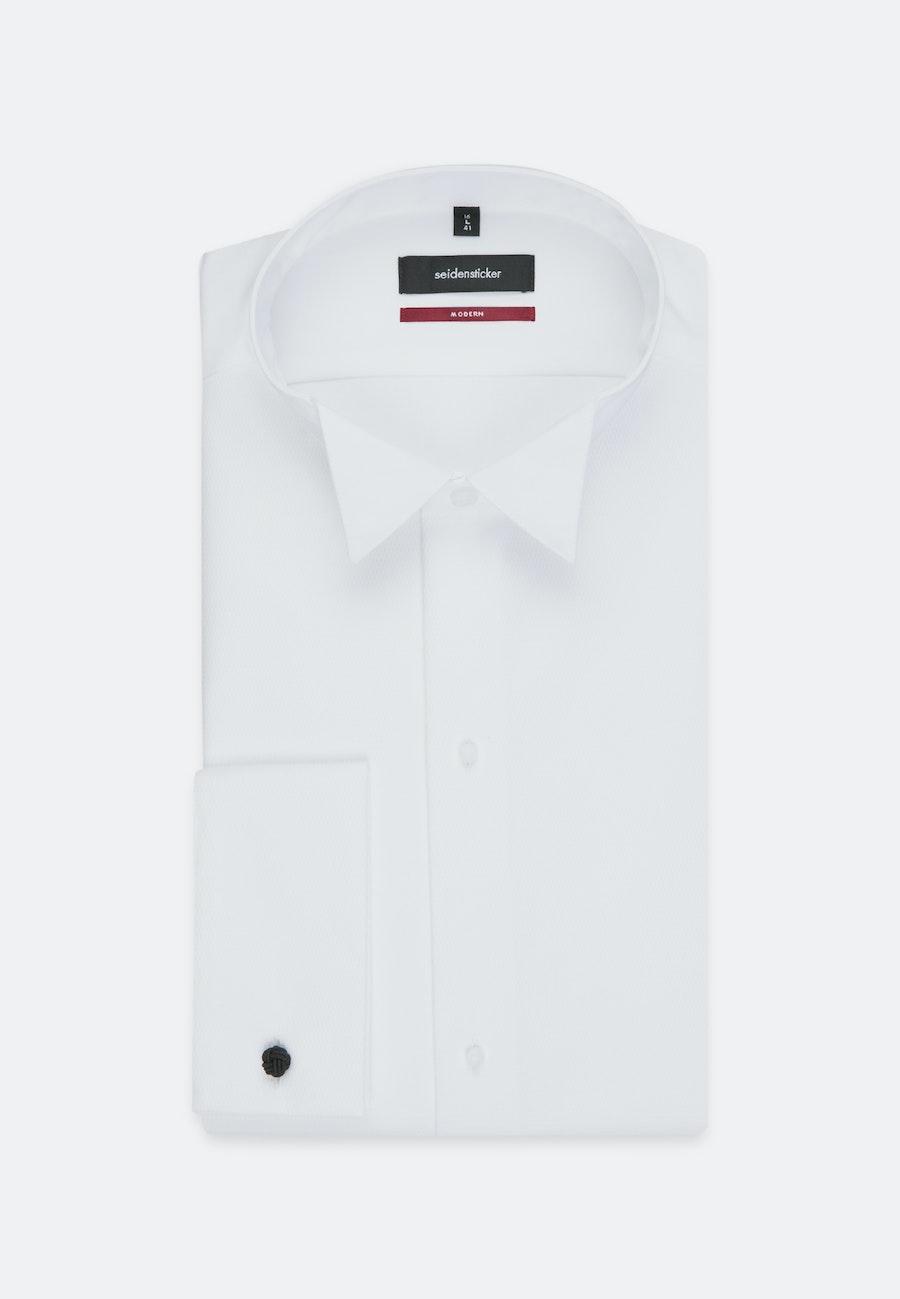 Non-iron Poplin Gala Shirt in Regular with Wing Collar in White |  Seidensticker Onlineshop